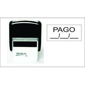 Carimbo Automático Premium 10- Pago,espaço Para Colocar Data