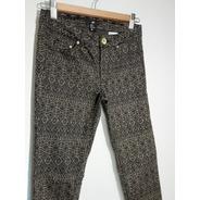 Pantalón H&m Estampado Con Bolsillos, Talla Eur 34