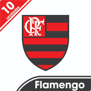 Kit 10 Adesivos Flamengo
