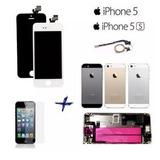 Kit Tela Lcd Iphone 5 5g 5s + Carcaça Completa + Home + Pelí