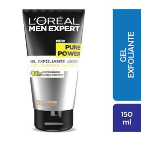 Gel Limpieza Facial Exfoliante Pure Power Men Expert Loreal