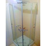 Cabina Ducha, Box Cuadrada 80x80 Vidrio Trasparente Naffull