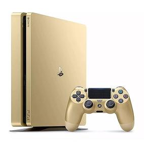 Console Ps4 Slim Gold Edition 500gb Americano Dourado Barato