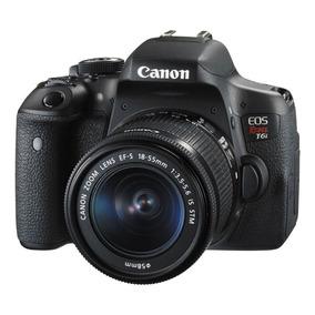 Câmera Canon T6i Kit Com Lente 18-55+garantia Canon 1 Ano
