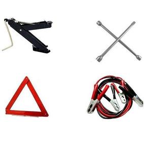 Kit Estepe Carro Macaco+ Triangulo+chave Roda + Cabo Bateria