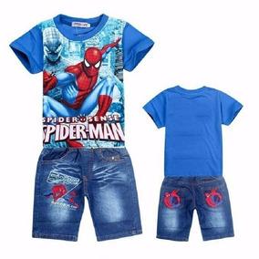 Conjuntos De Roupas Para Crianças E Adolecentes Homem Aranha