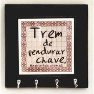 Porta Chave Com Azulejo - Trem De Pendurar Chaves