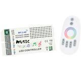 Controladora Audioritmica Tira De Led Rgb 5050/3528 Rf Tacti