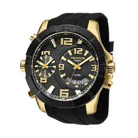 Relógio Technos Masculino Anadigi Legacy T205fj/8p Dourado