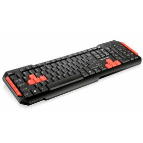 Teclado Multilaser Sem Fio Gamer Red Keys - Tc191 - Jogos