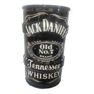 Lixeira Domestica Tambor Decorativo Jack Daniels Tonel