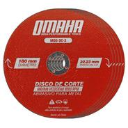 Disco De Corte 180 Mm X 2 Mm 25 Uni Metales Omaha Amoladora