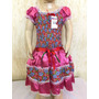 Vestido De Festa Junina Caipira Tam 6 Infantil Luxo Lindo