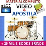 Curso Bateria Baterista Videos Apostilas +brindes T $3,99