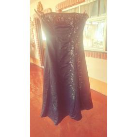 Vestido De Noche Negro Seminuevo Exelentes Condiciones