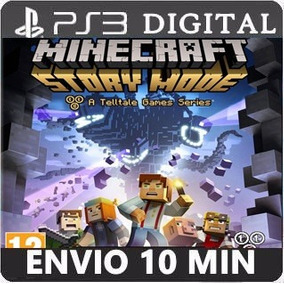 Minecraft Story Mode Pt Br Ps3 Cód. Psn Ep 1-5