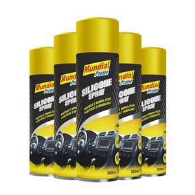 15x Silicone Spray Mundial Prime 300ml Carros Esteiras Couro