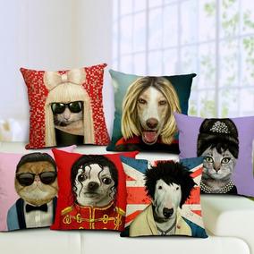 Cojines De Gato Perro Animales Artistas Famosos Almohadas
