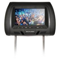 Encosto Cabeça Dvd Tela Lcd 7 Mini Tv Banco De Carro Au322