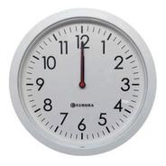 Relógio De Parede Eurora Cozinha Sala Branco 28cm 6575