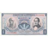 Billete De Colombia Antiguo De 1 Peso Año 1966
