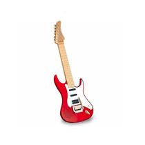 Guitarra Brinquedo Infantil Vermelha - Eletrônica - Dtc