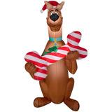 Inflables De Navidad 5 Scooby Doo Con Sombreros De Sant. b40c8f19c42