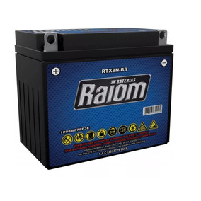 Bateria Raiom Rtx8n-bs Suzuki Yes Intruder 125 V Blade 250