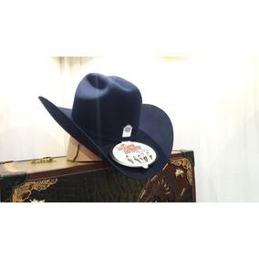 Sombrero Texana Larry Mahan 3x Lana Tigres Del Norte Azul