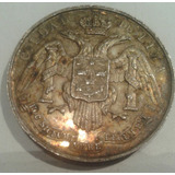 Medalla Plata 1889 Ciudad De Lima Peru 35 Mm General Caceres