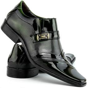 Sapatos Social Masculino Verniz 100% Couro - Super Oferta
