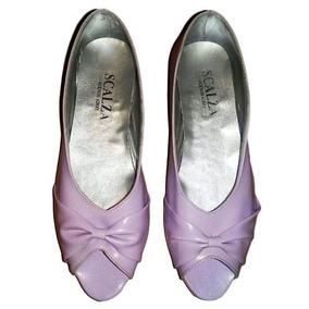 Zapatos Boquita De Pez Color Lila Num 36