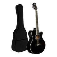 Guitarra Electroacustica Corte Bamboo Eq Afinador Funda Bk