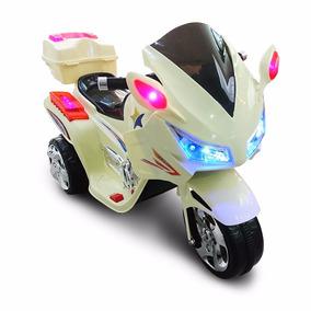 Moto A Bateria Policia Infantil Musica Luces!!!