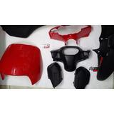 Kit Carenado Plasticos Zanella Zb Original G4 Rojo Oferta Mr