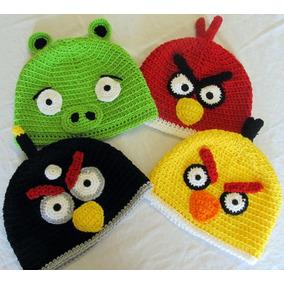 Touca De Crochê Angry Birds E Bad Piggies Gorro Chapeu Game aa5bfb5db6c
