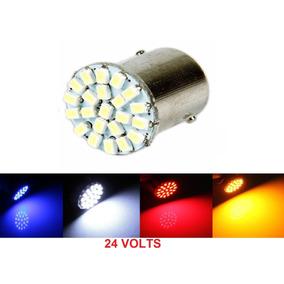Lampada 22 Led Ba15s 1 Polo Cores 24v (caminhao) Unidade