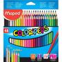 Lapiz Maped Color Peps X48 Lapices De Colores Largos