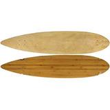 Moose Longboard 9 \x 43\ Cubierta De Bambú Pintail