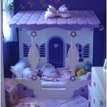 Cama Infantil De Casinha Feminina - 188x88