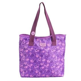Bolsa Tote Violetta Flowers Teen