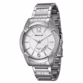 7c15cf73523 Relógio Prateado Masculino - Relógio Seculus Masculino no Mercado ...
