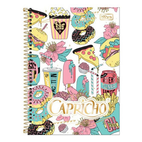 Caderno Espiral Capa Dura 1/4 96 Folhas Capricho Tilibra