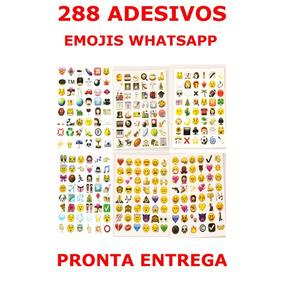 288 Adesivos Emojis Emoticons Whatsapp Pronta Entrega