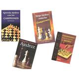 4 Libros De Ajedrez Grandes Maestros Partidas Guil Russek