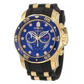 Relogio Invicta 6983 Scuba Pro Diver Banhado A Ouro 18 K