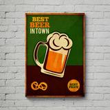 Quadro Poster Mdf, Decoração, Tema Beer, Cerveja, Churrasco