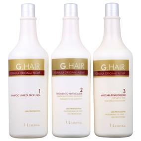 Kit G.hair Escova Alemã Salon (3 Produtos)