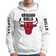 Sudadera Chicago Bulls Con Gorro Y Canguro Toros De Chicago