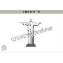 Adesivo Rio De Janeiro - Cristo Rententor - 80cmx100 Cm Alt